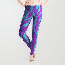 Purple and Green Zebra print Leggings