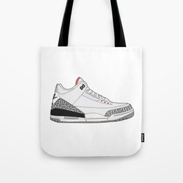 Jordan 3 - White Cement Tote Bag