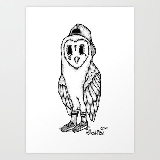 SkateOwl Art Print