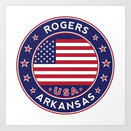 Rogers, Arkansas Art Print