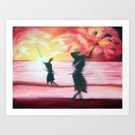 Sword Dancing Art Print
