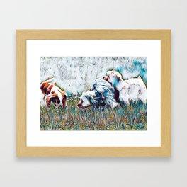 Dog Park Friends Framed Art Print