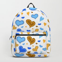 Hearts Illustrated pattern Backpack
