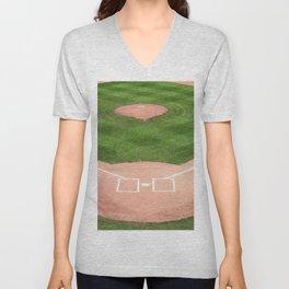 Baseball field Unisex V-Neck