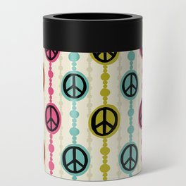 Peace Signs Hippie Beaded Curtain Can Cooler