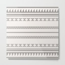 Tribal Pattern of Bakwando Metal Print