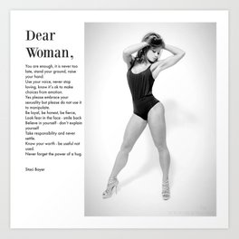Dear Woman - Stand your ground Art Print