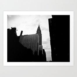 NEW YORK//SILHOUETTE Art Print