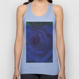 Big Blue Rose Unisex Tank Top