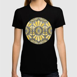 Sunny Yellow Radiant Watercolor Pattern T-shirt