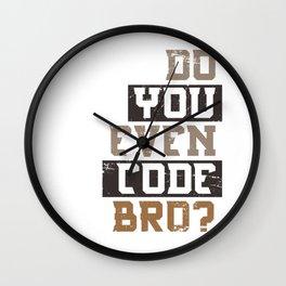 Code Humor Wall Clock