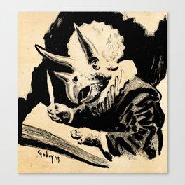 Triceratops Van Rijn Canvas Print