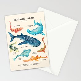 FANTASTIC SHARKS Stationery Cards