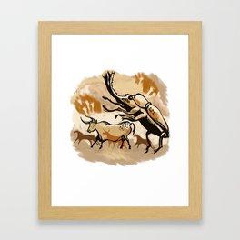 Cave Painting - Giant Bug! Framed Art Print
