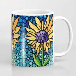 Standing Tall - Sunflower Art By Sharon Cummings Coffee Mug