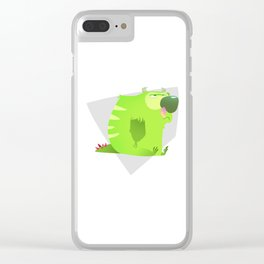 Grumpy monster Clear iPhone Case