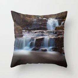 Lower Blaen y Glyn Falls Throw Pillow