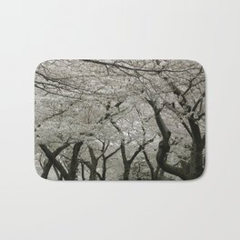 """Crab Apple and Sakura"" Bath Mat"