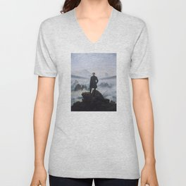 Wanderer Above the Sea of Fog Unisex V-Neck