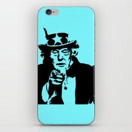 Neon Aqua Uncle Trump Needs You iPhone Skin