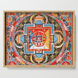 Buddhist Mandala of Jnanadakini Tangka Serving Tray