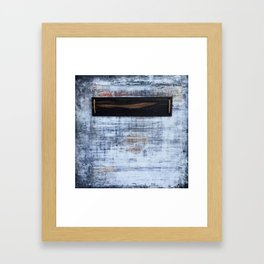 """abstract antique ebony wall"" Framed Art Print"