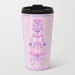 La Vie & La Mort – Pink & Periwinkle Travel Mug