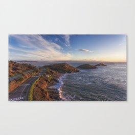 Bracelet Bay in Swansea Canvas Print