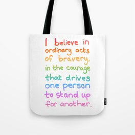 Ordinary Acts of Bravery - Divergent Quote Tote Bag