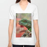 iggy V-neck T-shirts featuring Iggy by IowaShots