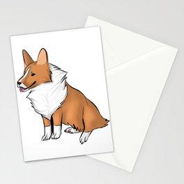 Chibi Corgi Stationery Cards