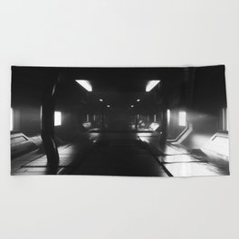 Sci-Fi Hall 3D Artwork Beach Towel