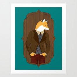 Mr Fox is stylish Art Print