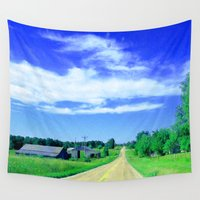 country Wall Tapestries featuring Country Road by J&C Creations