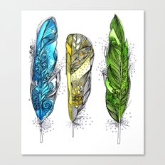 Dream Feathers Canvas Print