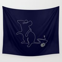 mouse Wall Tapestries featuring Mouse by Steven Toang