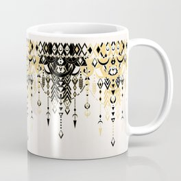 Modern Deco in Black and Cream Coffee Mug