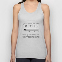 A giant leap for trombonekind Unisex Tank Top