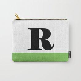 Monogram Letter R (color block) Carry-All Pouch