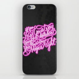 Daft Punk - Doin' It Right - Lettering iPhone Skin
