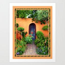 Garden Delights, Mesilla, NM Art Print