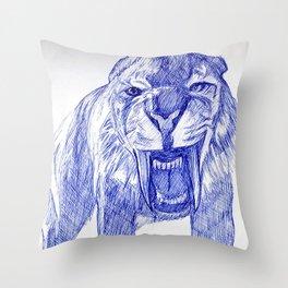 Saber Tooth Tiger. Throw Pillow