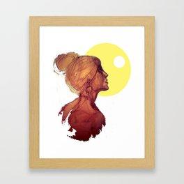 Kiss the Moon - Bacio alla Luna Framed Art Print
