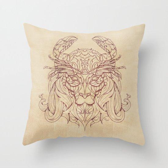 Lion Crab Throw Pillow