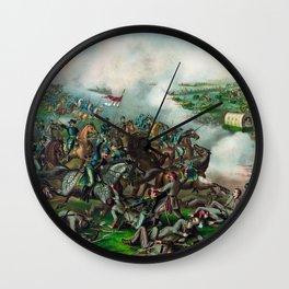 Battle of Five Forks Wall Clock
