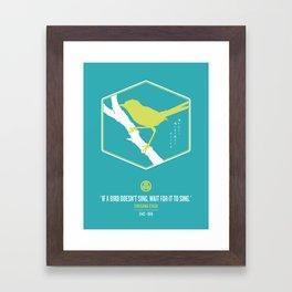 If A Bird Doesn't Sing Series 3 of 3 Framed Art Print