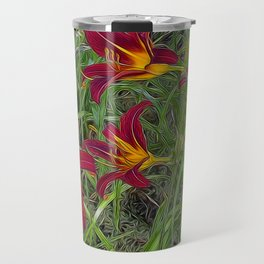 Tiger Lily Garden Travel Mug