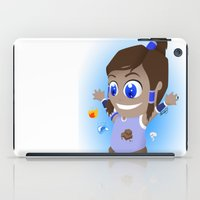 the legend of korra iPad Cases featuring The Legend of Chibi Korra by Art of Sara