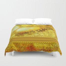 LE PAPILLON | yellow Duvet Cover