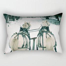Horse Sled Ride Rectangular Pillow